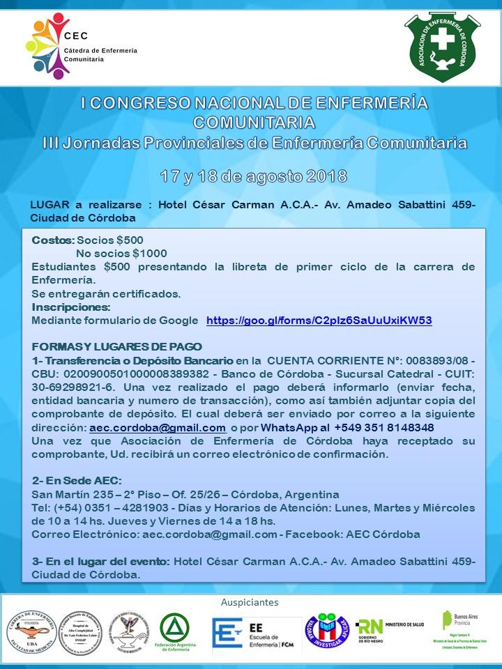 1° Congreso Nacional de Enfermería Comunitaria