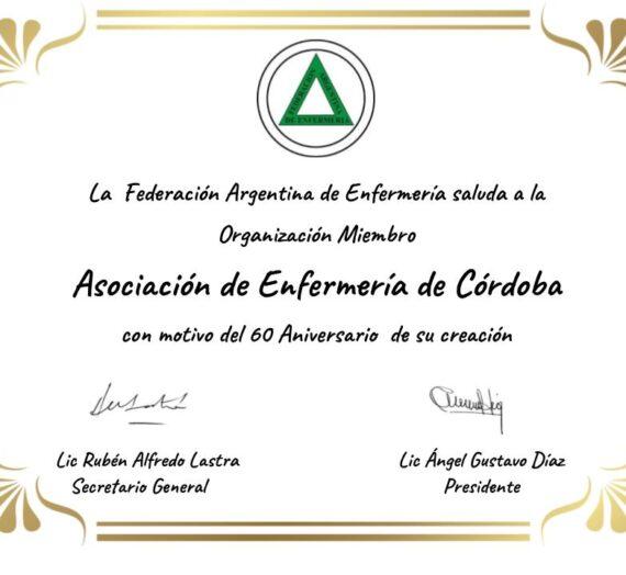 Saludos por el 60 Aniversario de AEC
