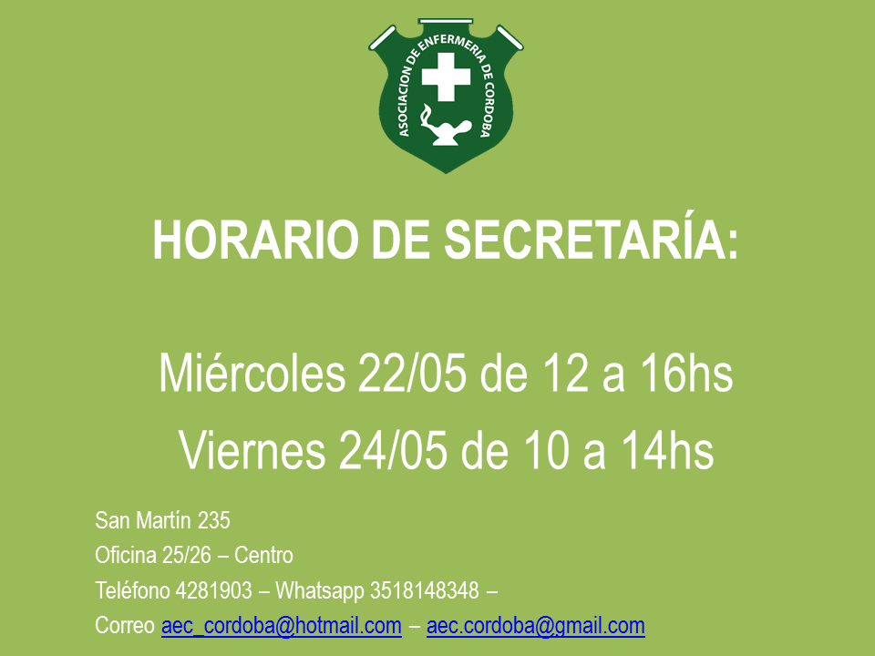 Horario Especial de Atención 22 y 24 de mayo 1
