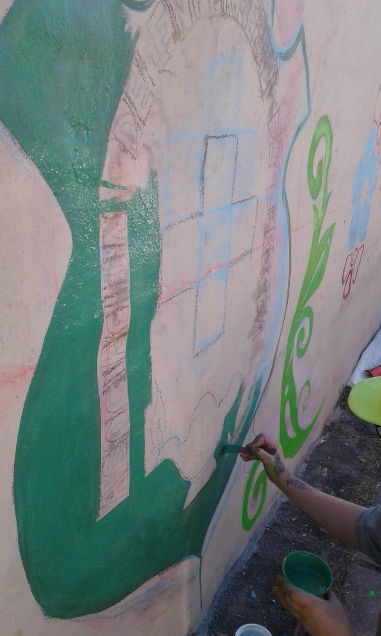 Actividades por los 60 años de AEC - Pintada de Mural - 17