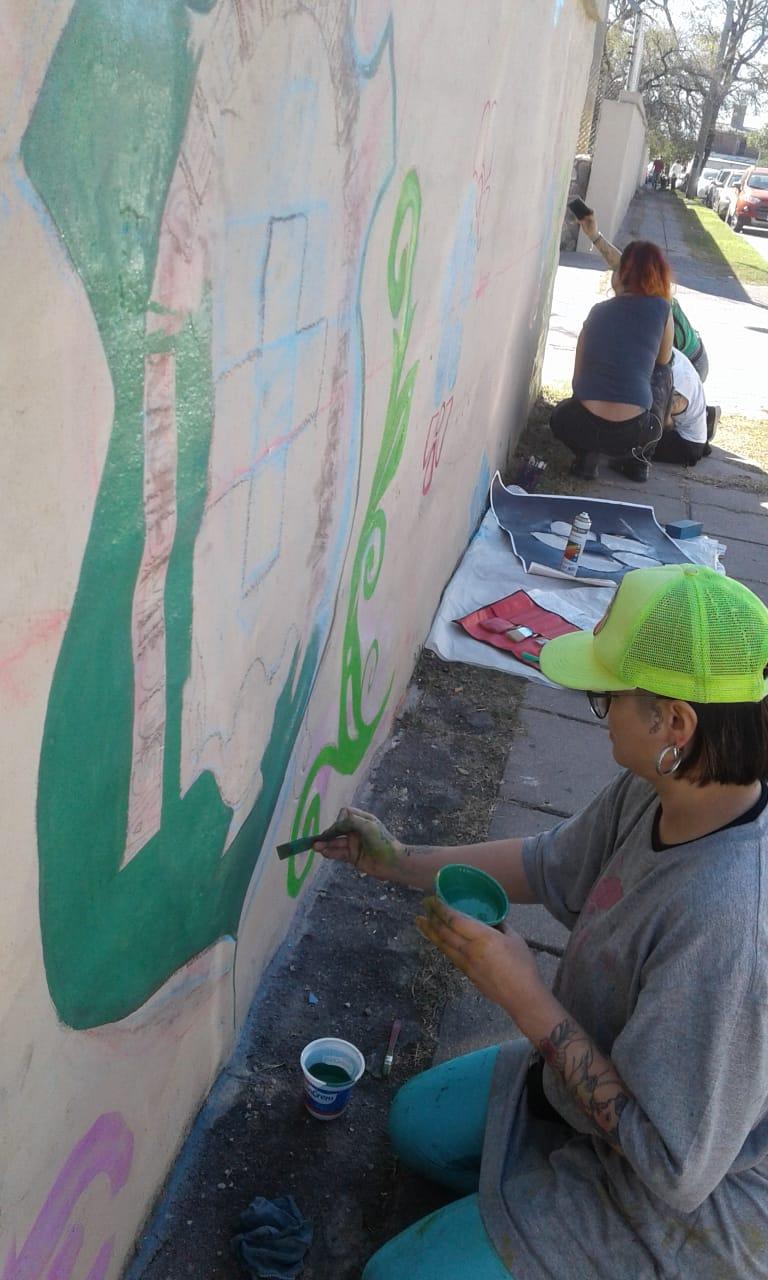 Actividades por los 60 años de AEC - Pintada de Mural - 1