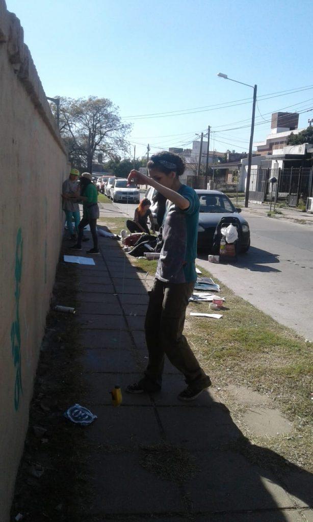 Actividades por los 60 años de AEC - Pintada de Mural - 5