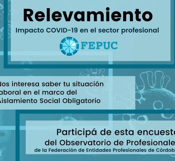 ENCUESTA DE relevamiento sobre la situación laboral de las y los profesionales cordobeses en el marco de las medidas de Aislamiento Social Obligatorio – FEPUC