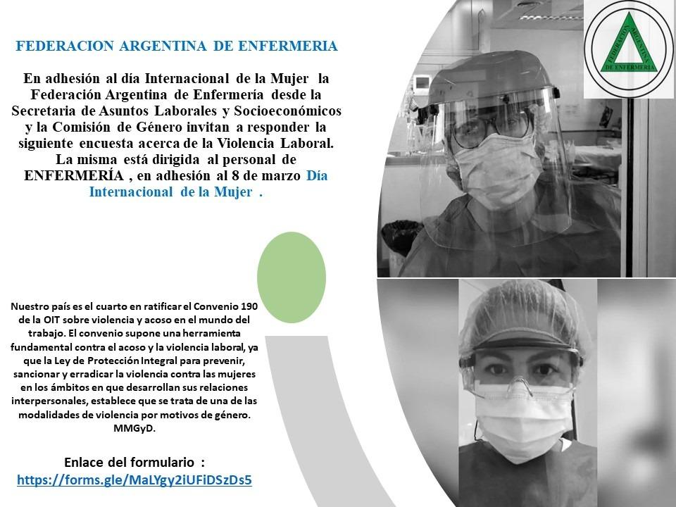 Encuesta sobre Violencia Laboral en el personal de Enfermería en Argentina -2021