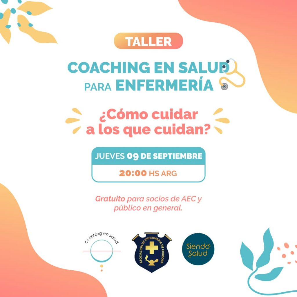 Taller en Coaching en Salud para Enfermería - 9 de septiembre a las 20hs