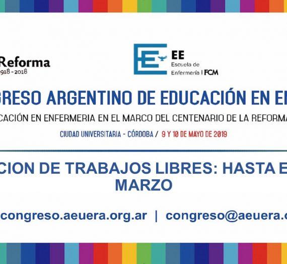 VIII CONGRESO ARGENTINO DE EDUCACIÓN EN ENFERMERÍA – 9 y 10 de mayo de 2019 – Córdoba