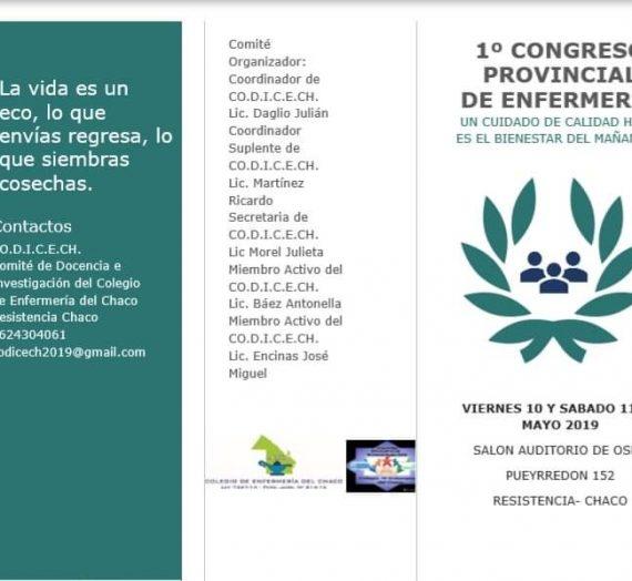 1º CONGRESO PROVINCIAL DE ENFERMERÍA – RESISTENCIA, CHACO