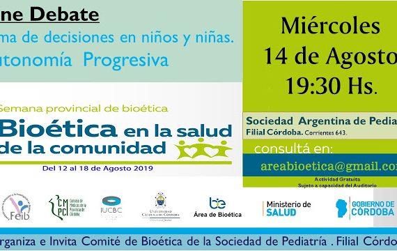 Semana provincial de Bioética en la salud de la comunidad