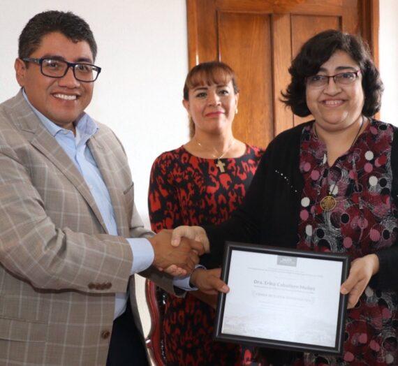 Dra. Erika Caballero (CIE) declarada «Huésped Distinguida» en la ciudad de Fresnillo